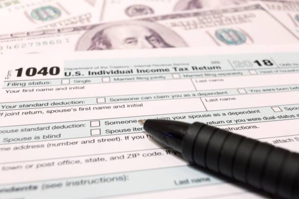usa tax dag april 15 2019 - 2018 stockfoto's en -beelden