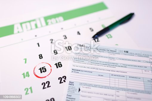 istock USA tax day april 15 2019 1094866302