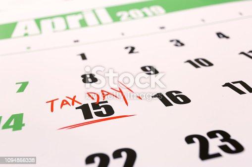 istock USA tax day april 15 2019 1094866338