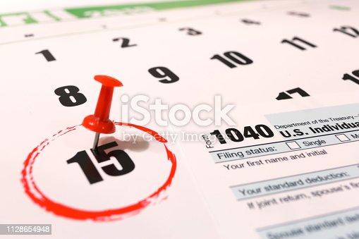 istock USA tax day april 15 2019 1128654948