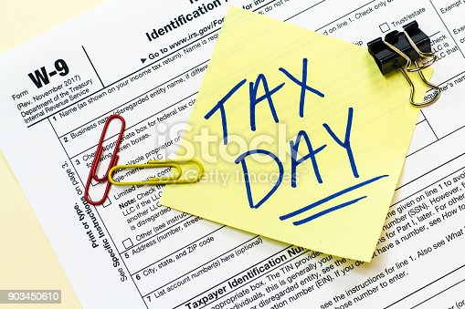istock W9 Tax Day Concept 903450610
