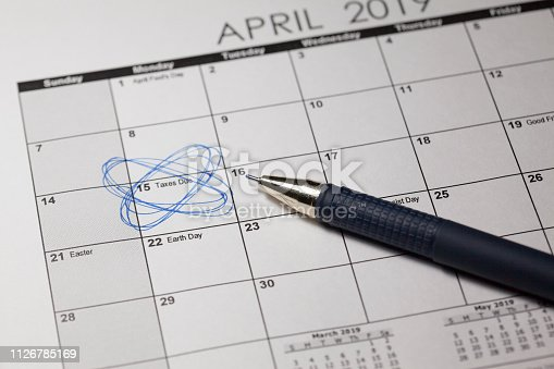 Monday, April 15, 2019, Tax Day. Tax Day as the deadline to file their income tax details to the Internal Revenue.