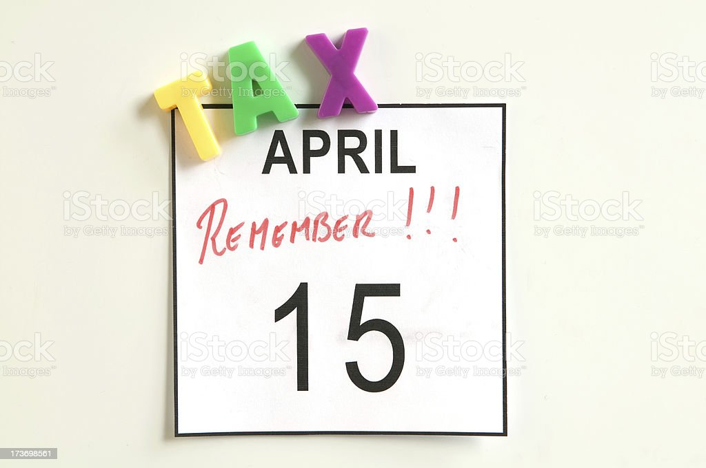 USA tax day royalty-free stock photo