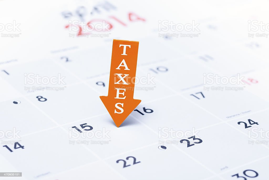 Tax day royalty-free stock photo