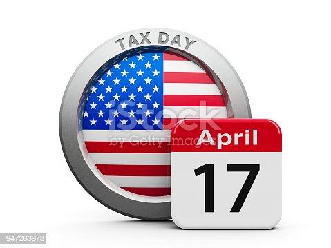 istock Tax Day (USA) 947260978