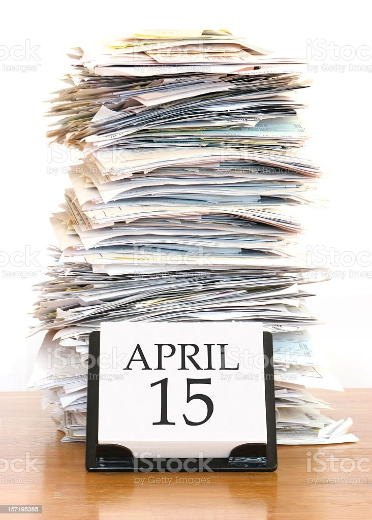 Tax Deadline stock photo