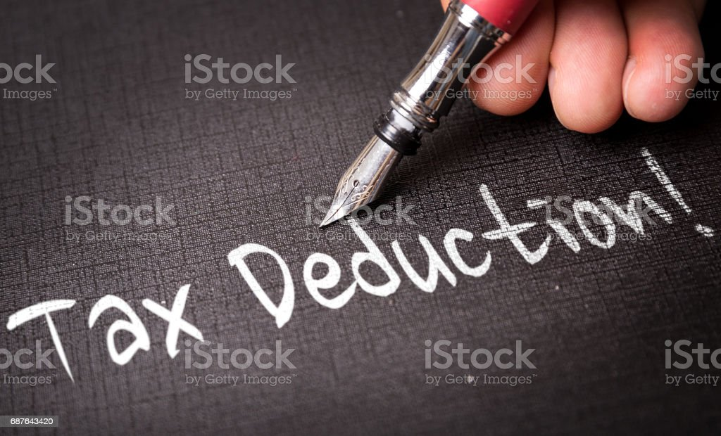 Tax Deduction stock photo