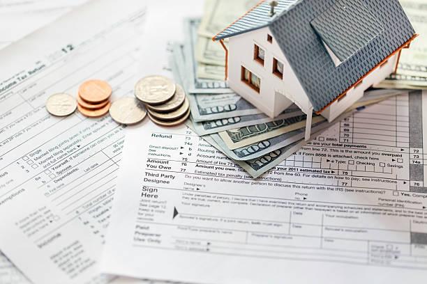 Tax deductions stock photo
