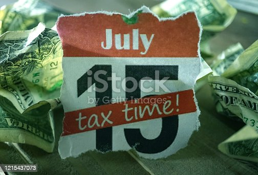 close up shot of tax due date