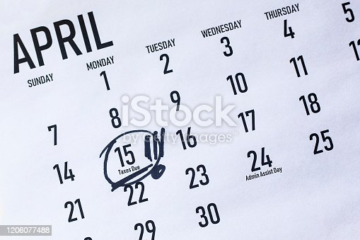 1185240988 istock photo Tax due, Tax day 2020 1206077488