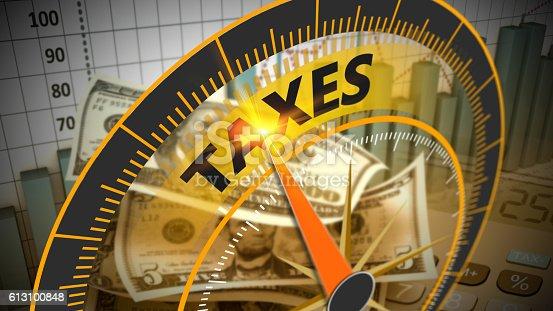 istock Tax economy refund money as concept 613100848