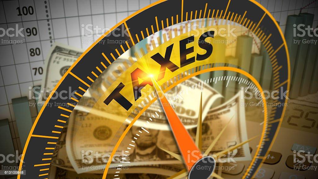 Tax economy refund money as concept stock photo