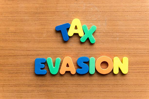 tax evasion stock photo