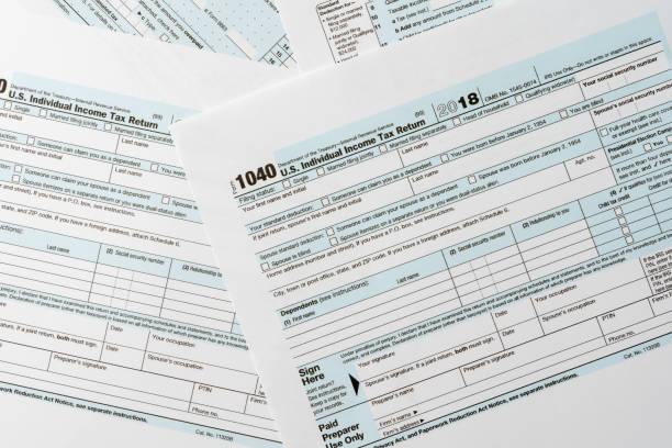 US tax 1040 Formularhintergrund für Besteuerung Konzept Finanz und Wirtschaft – Foto