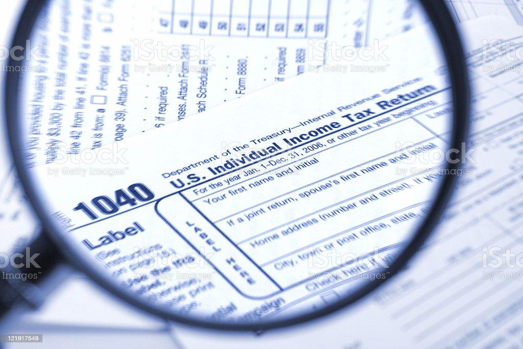 USA tax form - 1040 royalty-free stock photo