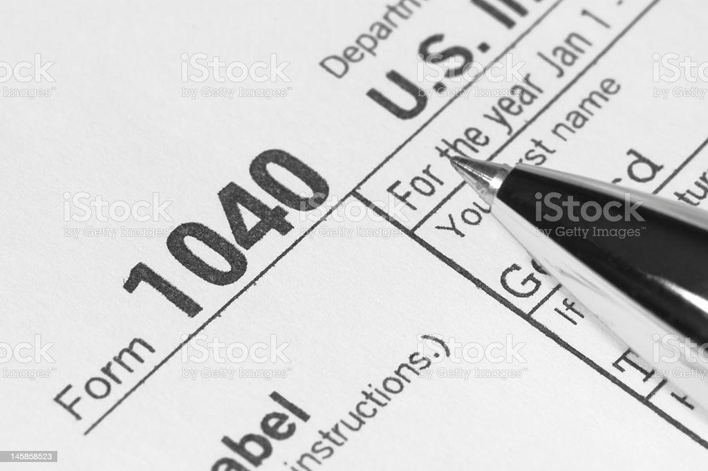 US Tax Form 1040 royalty-free stock photo