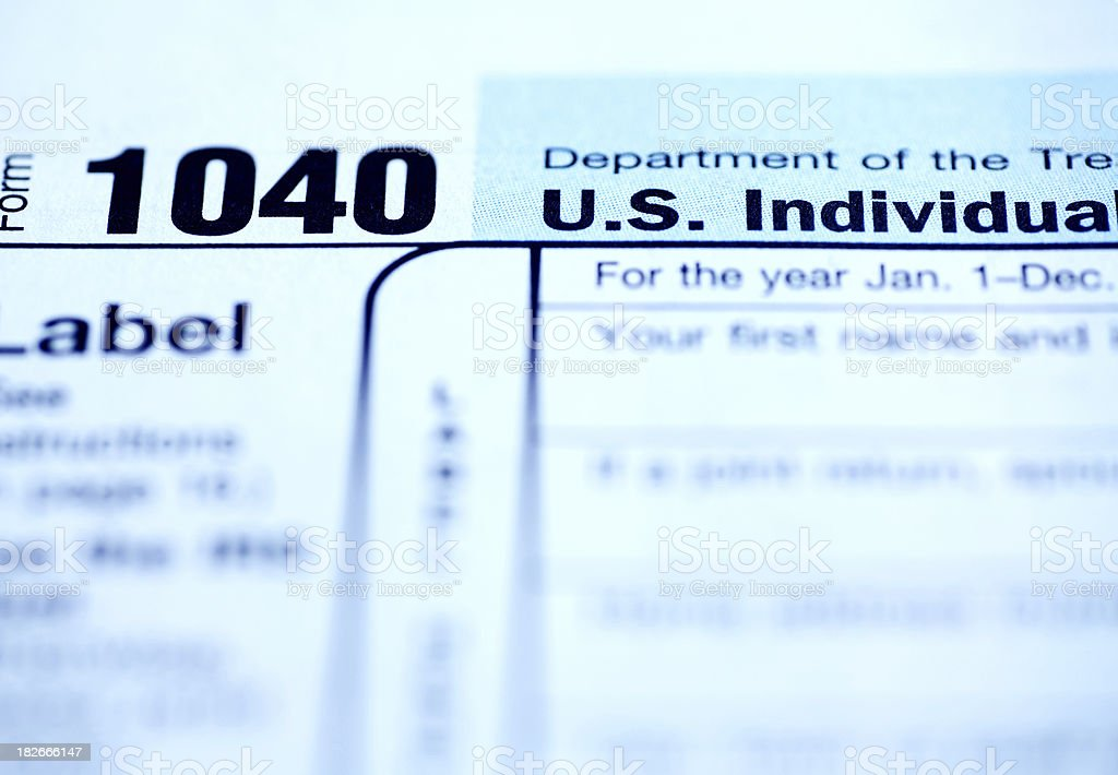 Tax Form 1040 royalty-free stock photo