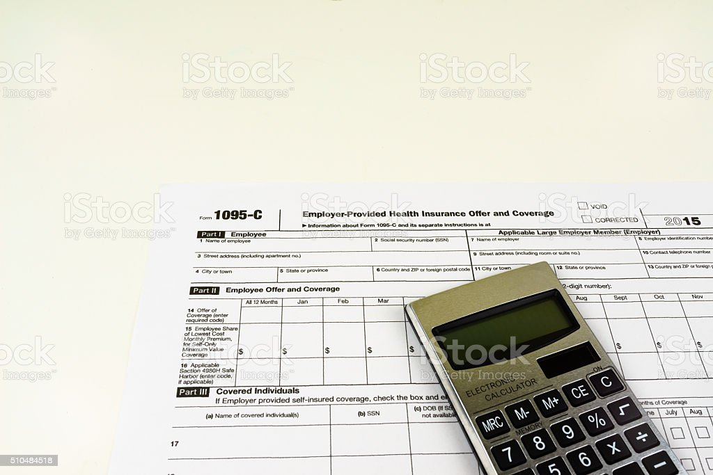 Tax Form 1095-C, Tax Form Details for Tax Season with Light Background
