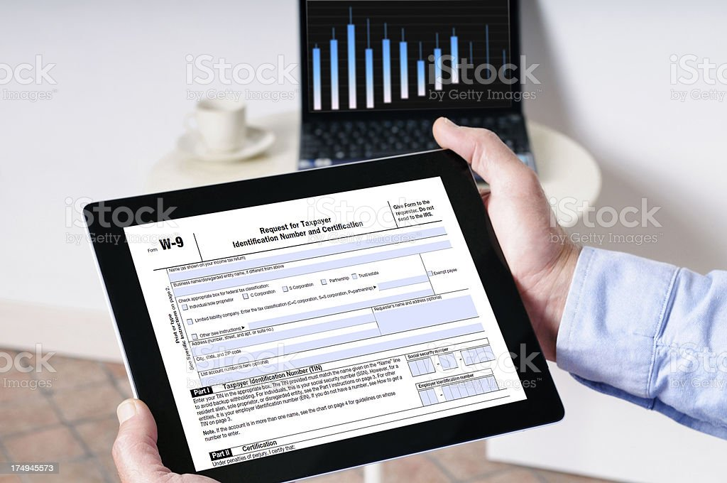 Tax Form and Graph stock photo