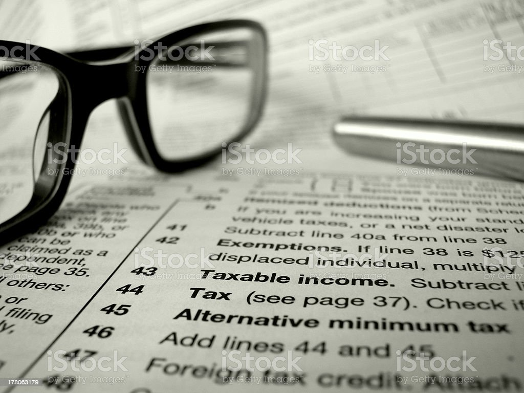 Tax Form And Pen stock photo