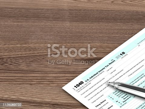 Tax form audit planning audit business desk top view wooden table calculate