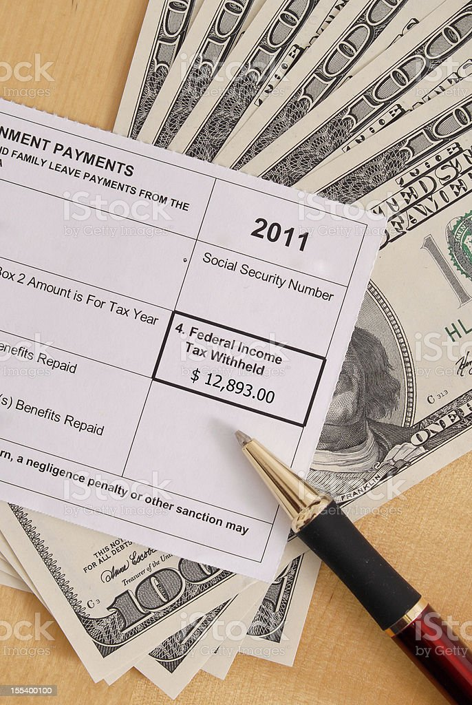 Tax Form Federal Income Box royalty-free stock photo