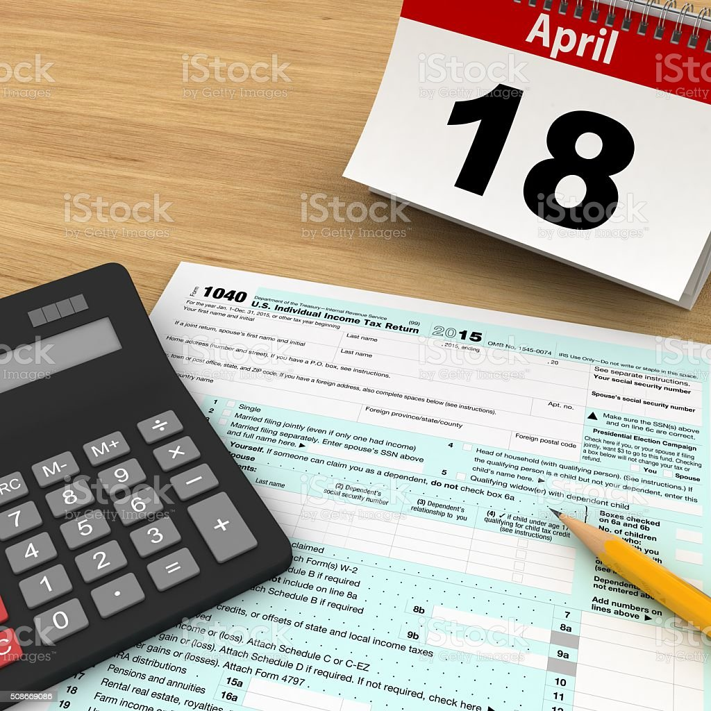 Tax form payment stock photo