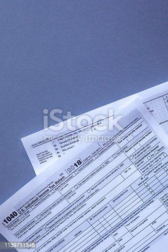 istock 2019 tax form 1139711348