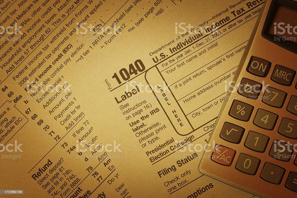 Tax form royalty-free stock photo