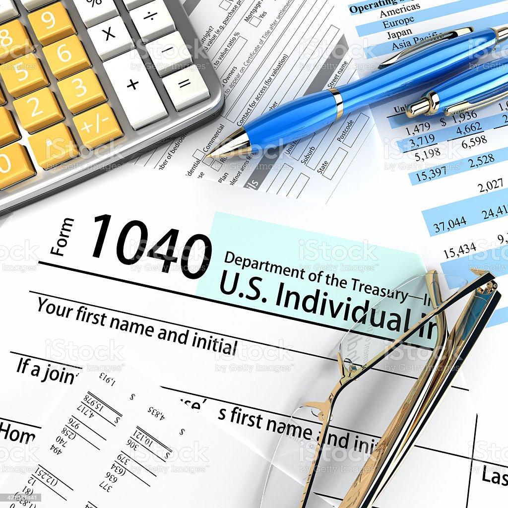 US 1040 Tax Form stock photo