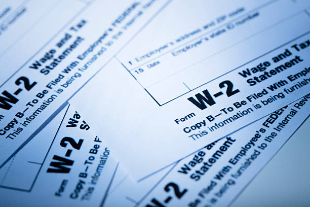 W-2 Tax Form stock photo