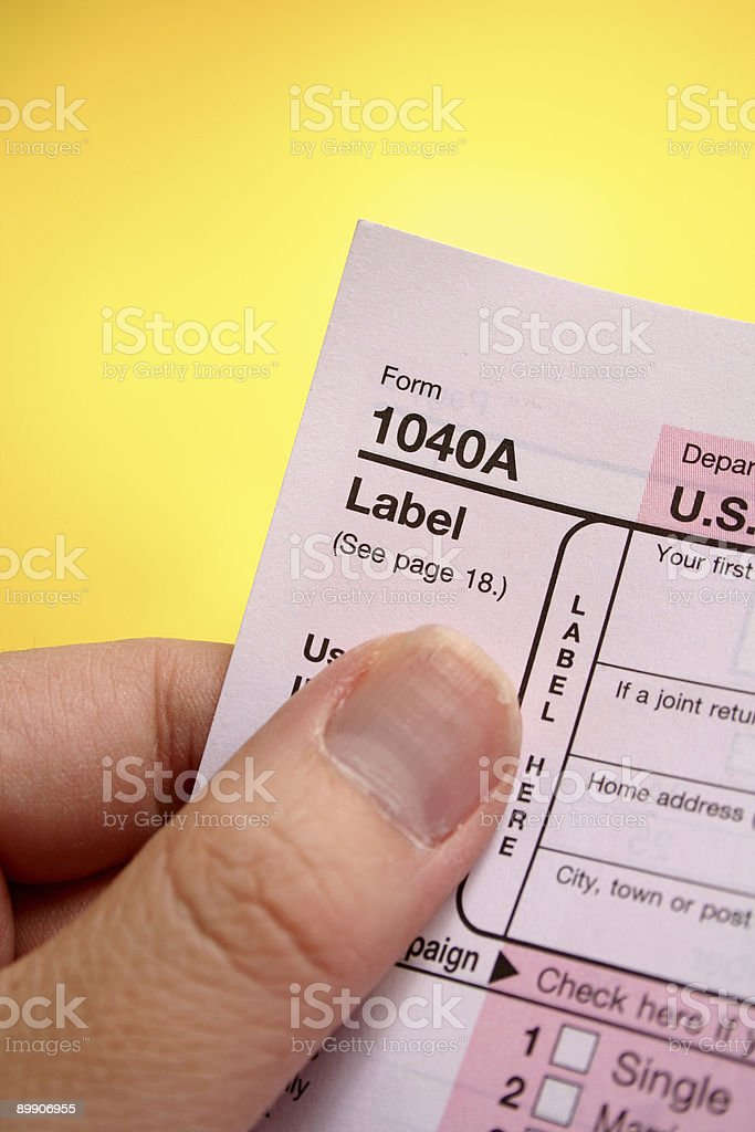 Tax form (vertical) royalty-free stock photo