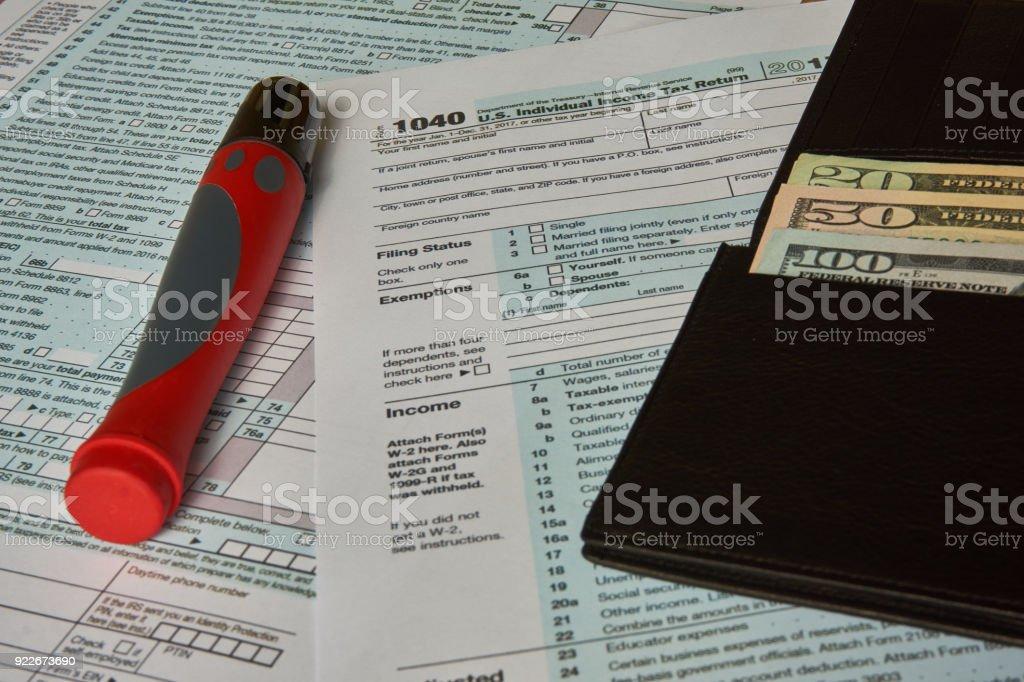 1040 Tax Form stock photo