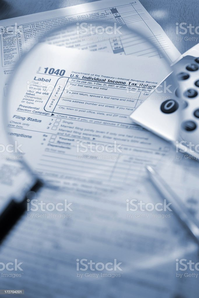 tax form series royalty-free stock photo