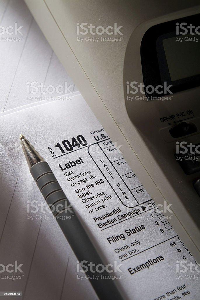 Tax Form Series royaltyfri bildbanksbilder