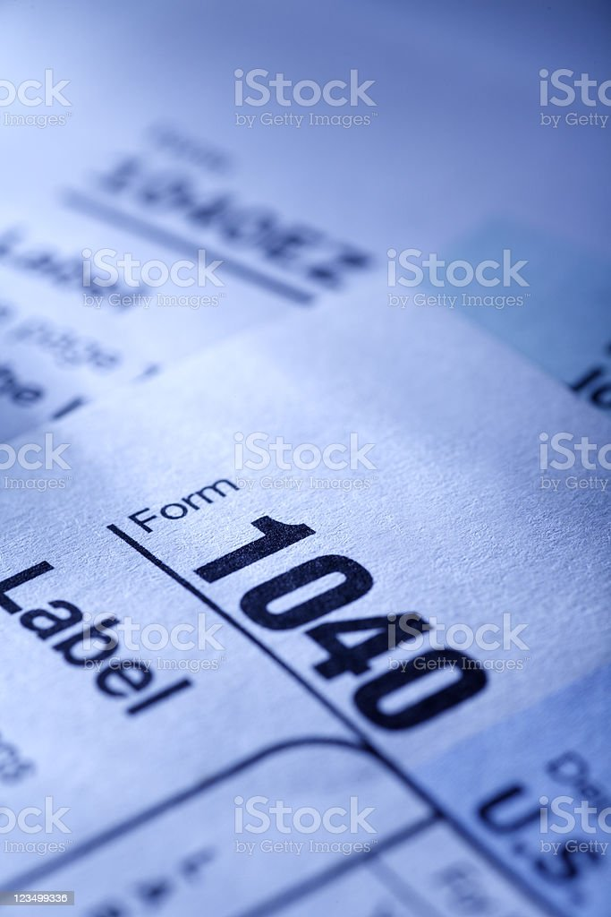 Tax Forms royalty-free stock photo