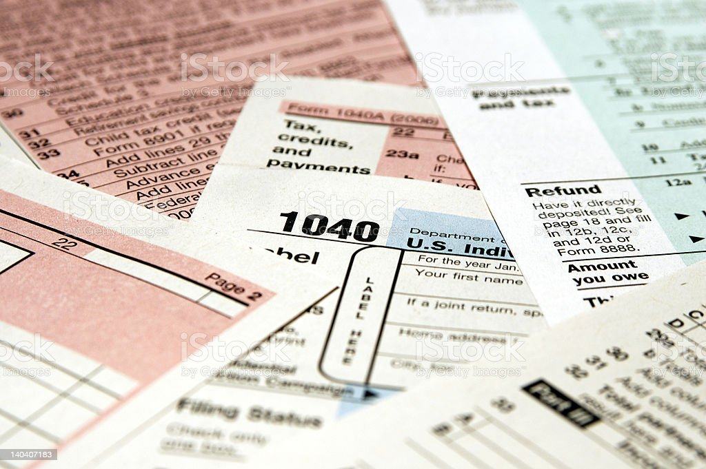 Tax Forms stock photo