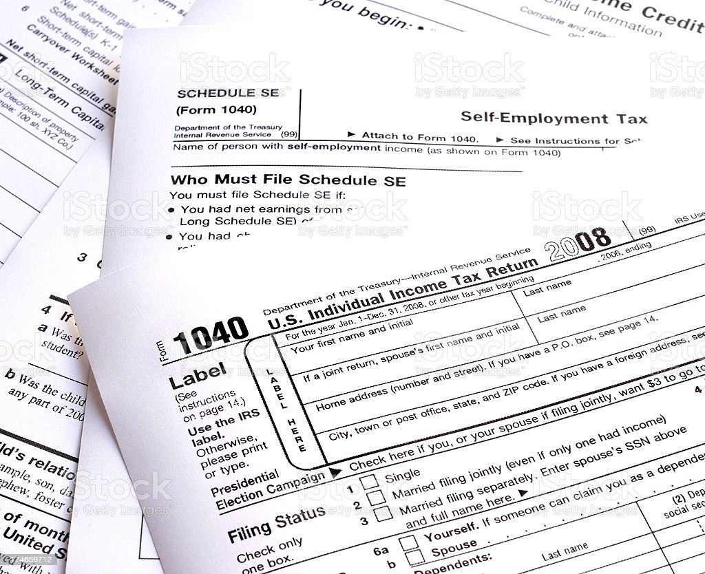 US Tax Forms stock photo