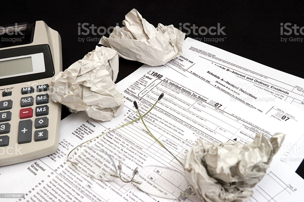 US Tax Forms - Starting over stock photo