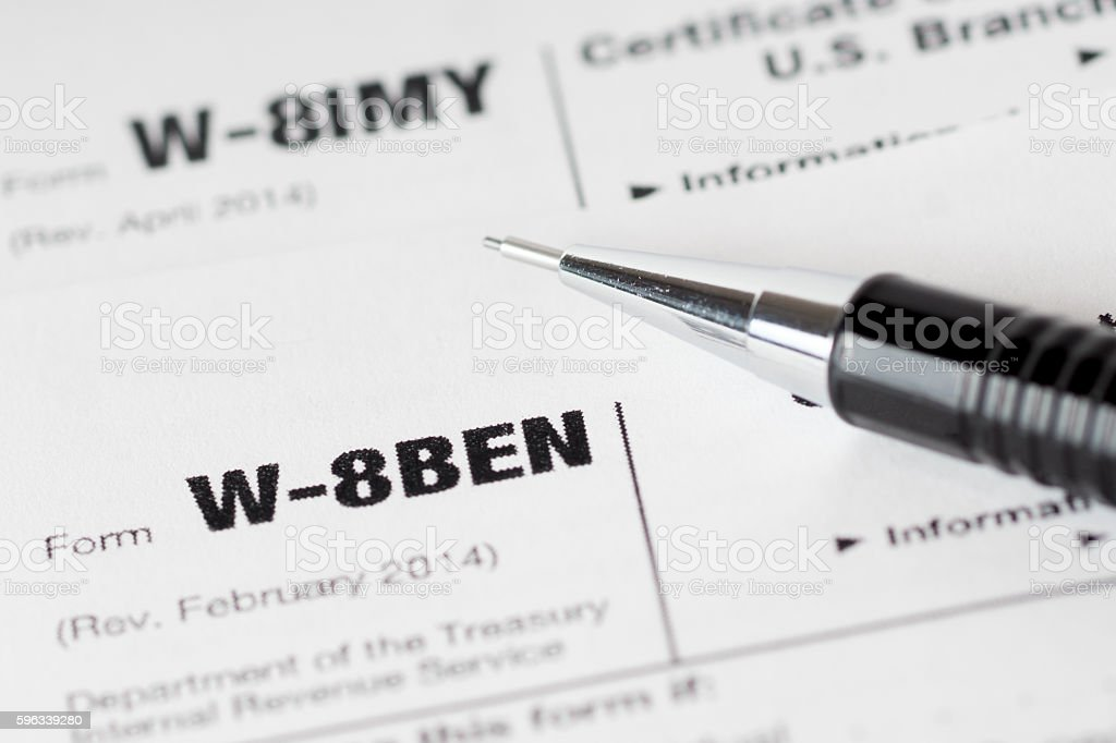tax forms with black pencil royalty-free stock photo