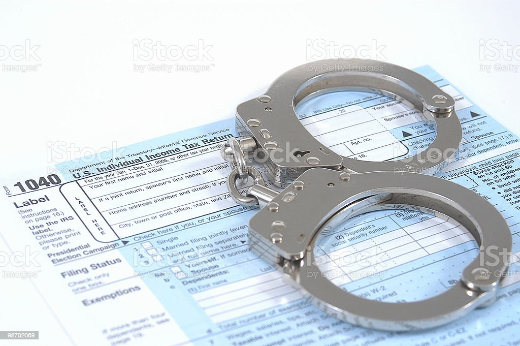 Tax fraud stock photo