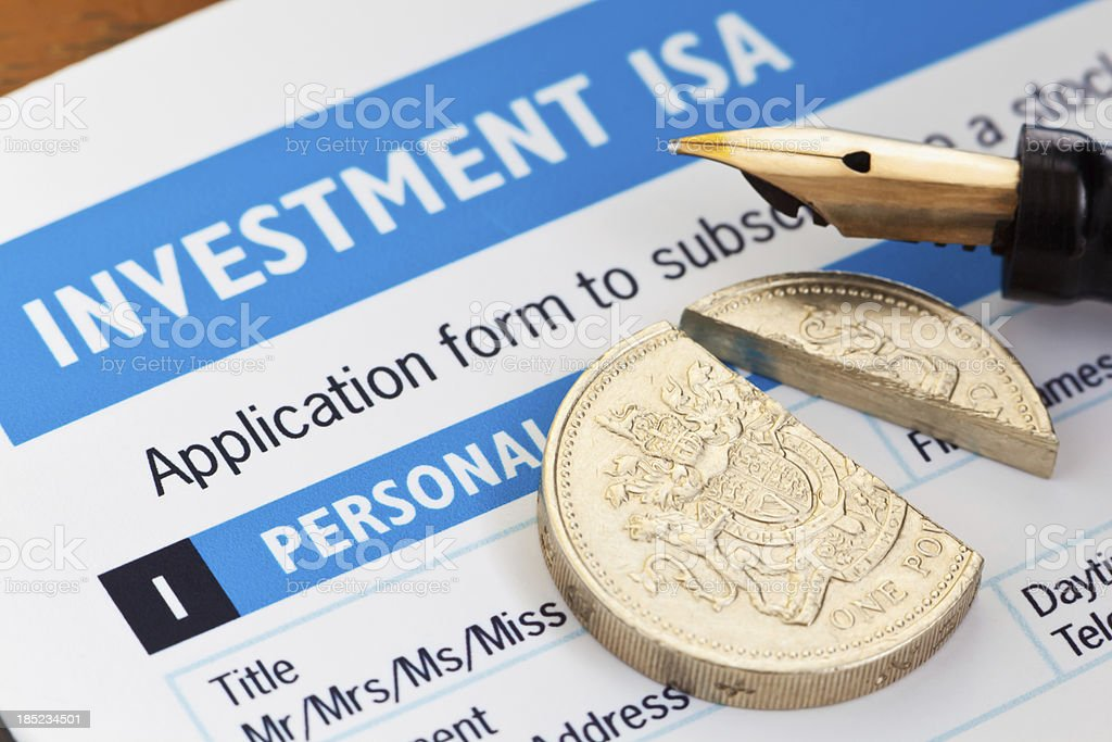 Tax Free ISA investment stock photo