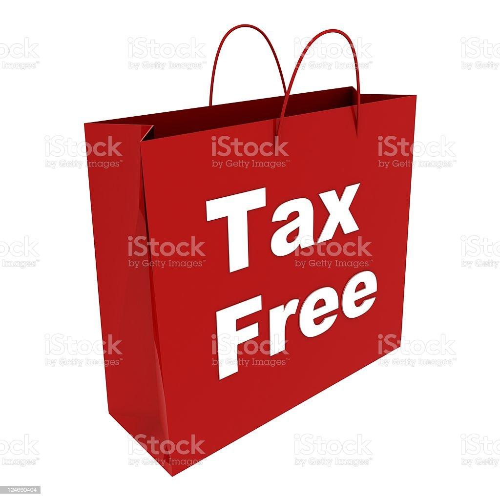 Tax Free Shopping royalty-free stock photo