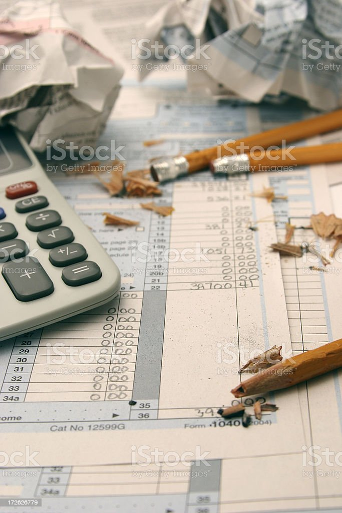 Tax Frustration royalty-free stock photo