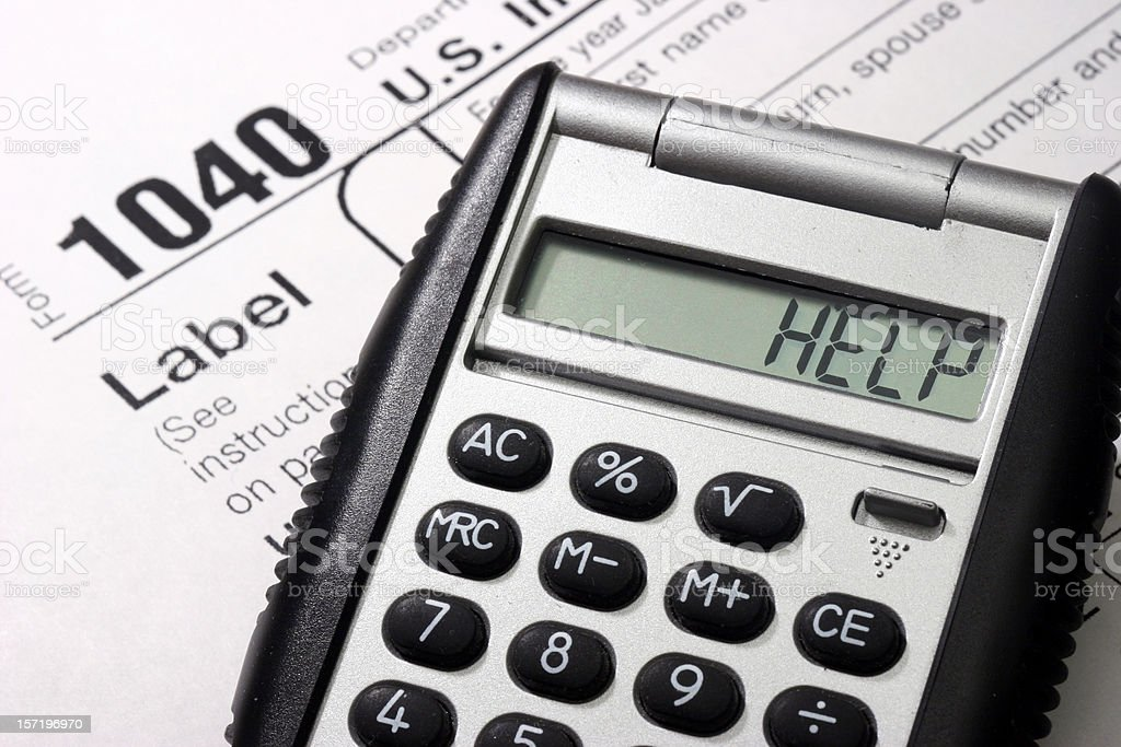 Tax Help royalty-free stock photo
