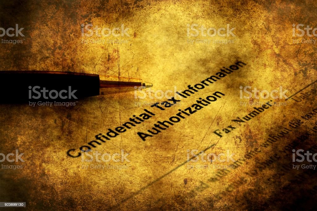 Tax information grunge concept stock photo