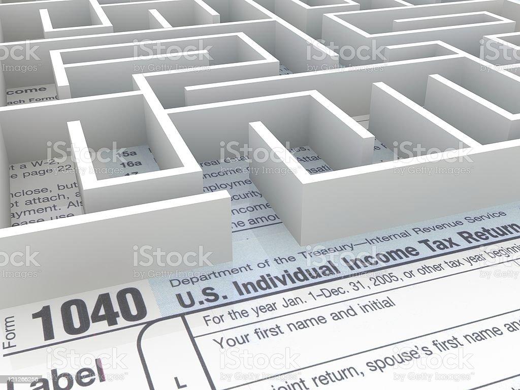 Tax Labyrinth royalty-free stock photo
