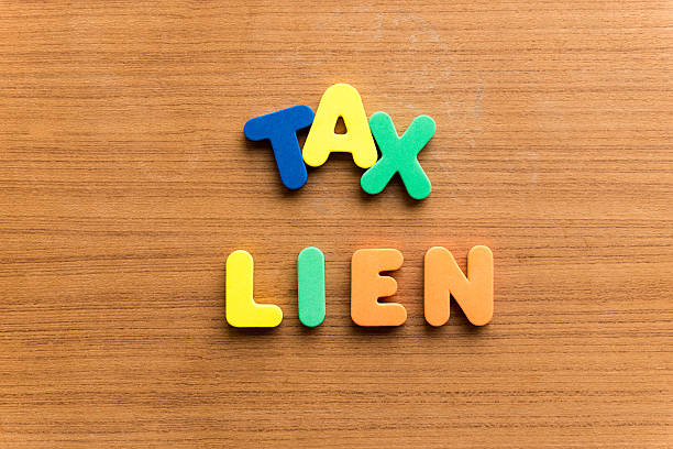 tax lien stock photo