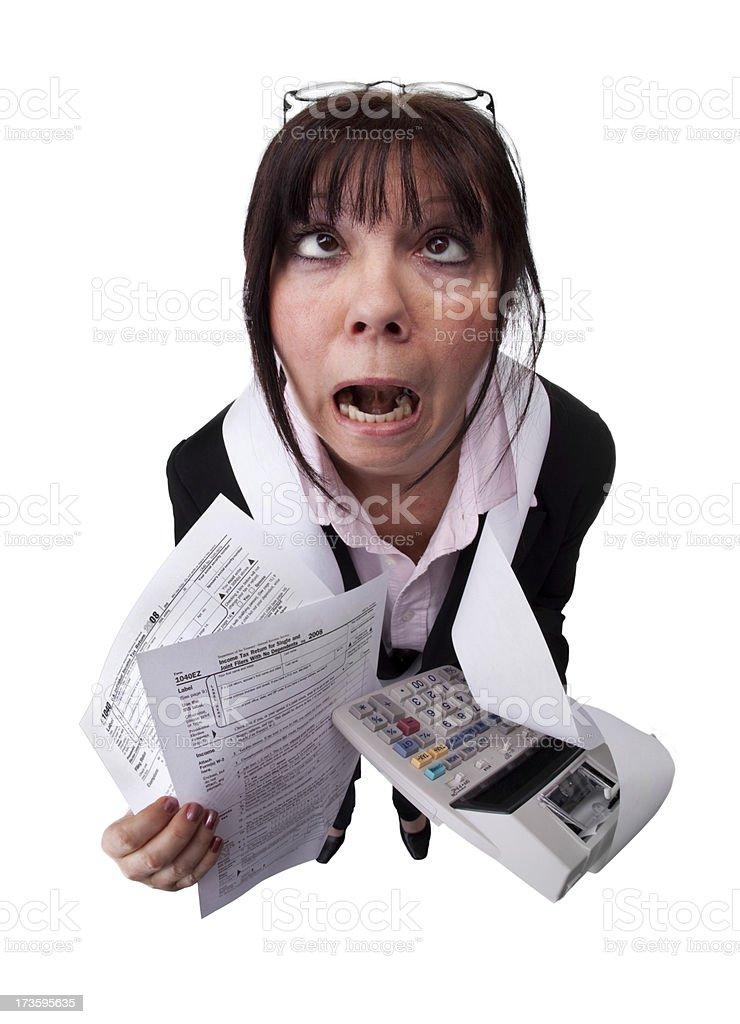 Tax Nightmare royalty-free stock photo