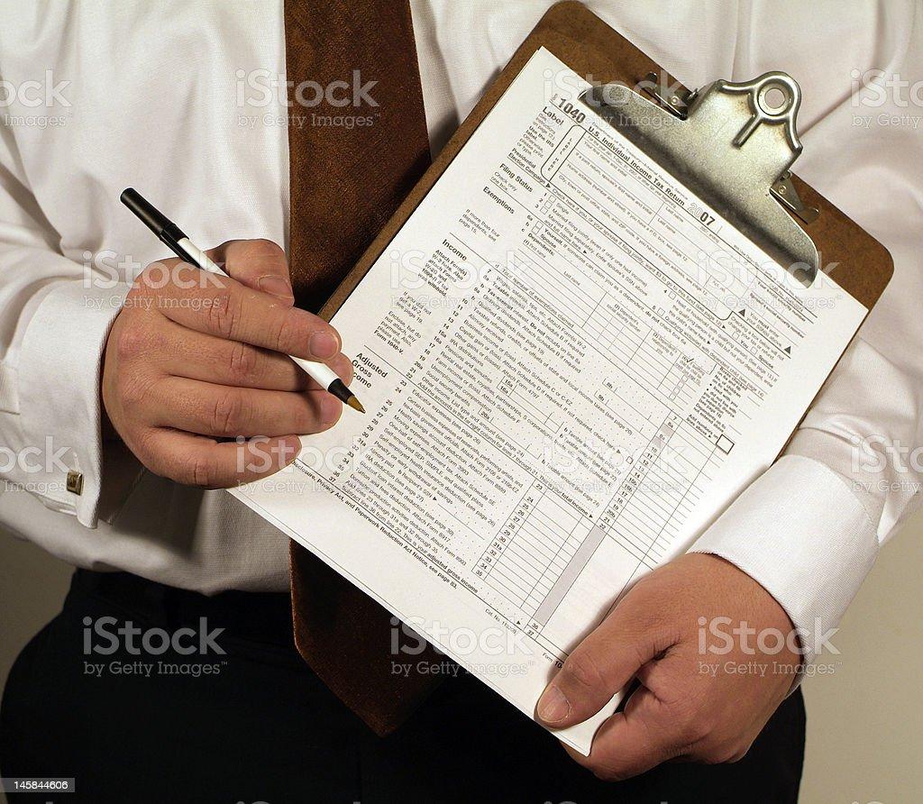 Tax paperwork royalty-free stock photo